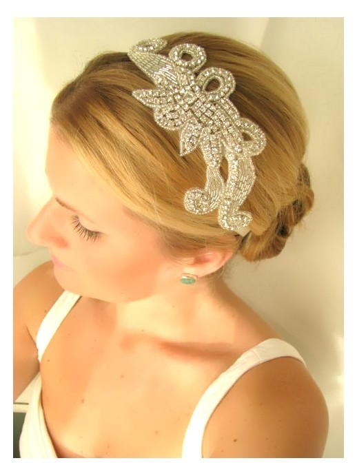 Свадьба - Iris  bridal headband, rhinestone headband, wedding headband, bridal hair accessories