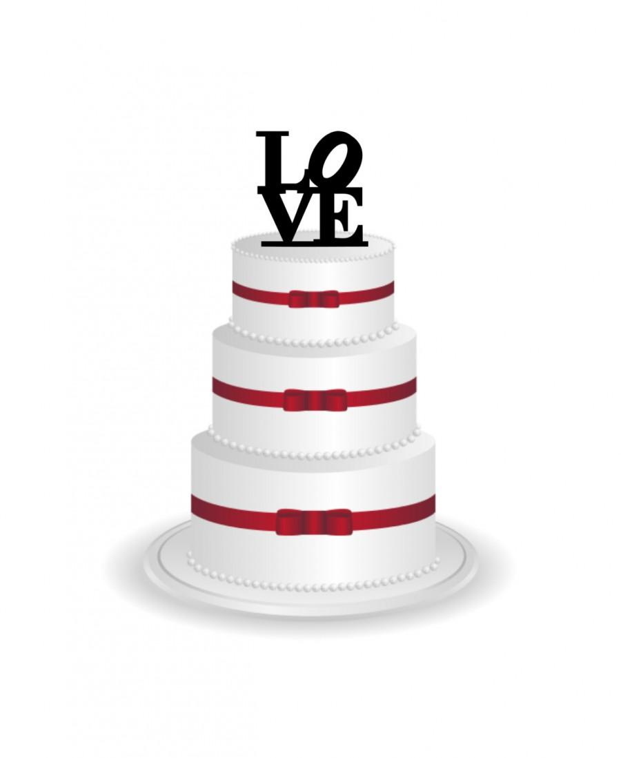 Mariage - Love Cake Topper - Wedding Cake Topper Silhouette