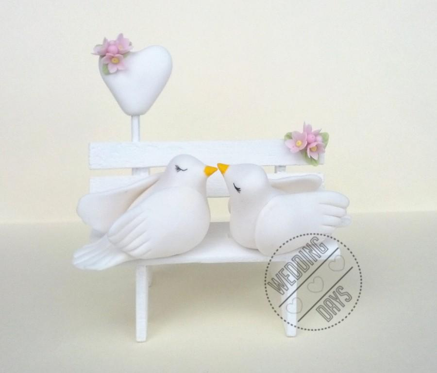 Kissing Doves Cake Topper