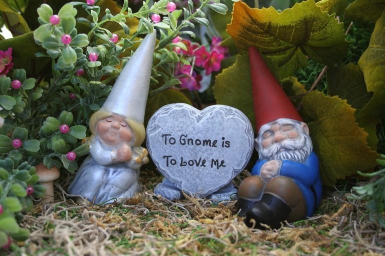 Hochzeit - Gnomes Cake Topper - Customized 3 Piece Set for Wedding