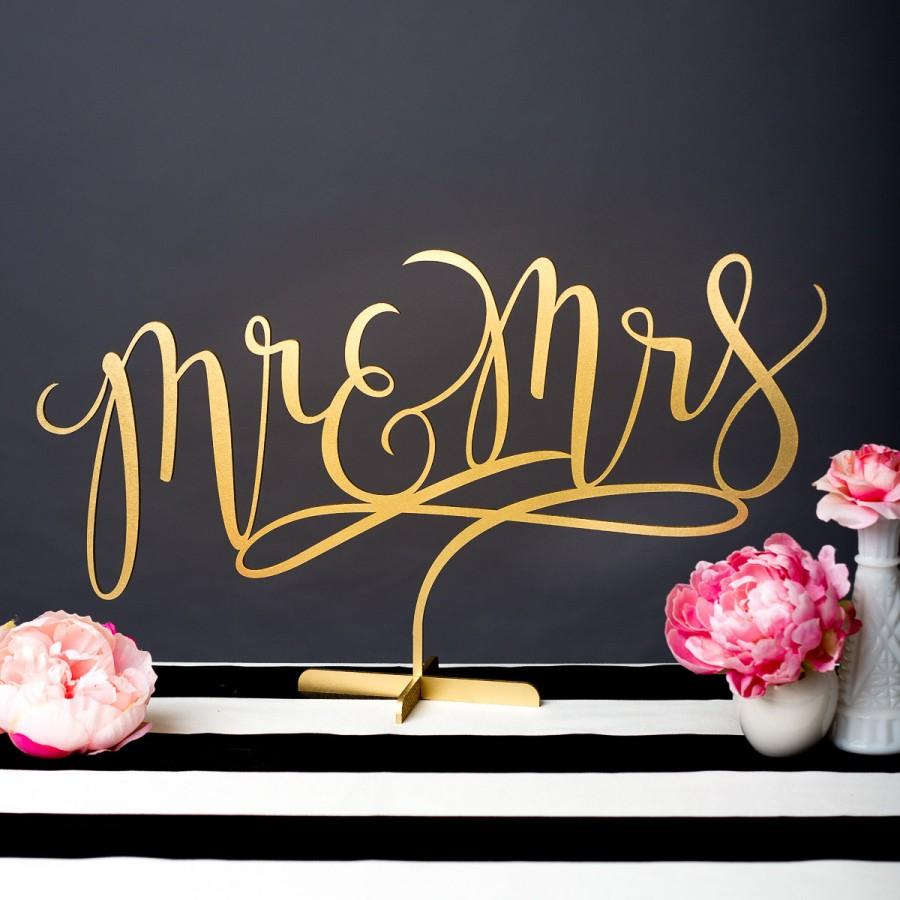 Hochzeit - Wedding Sign - Mr and Mrs Table Sign - Joyful Collection