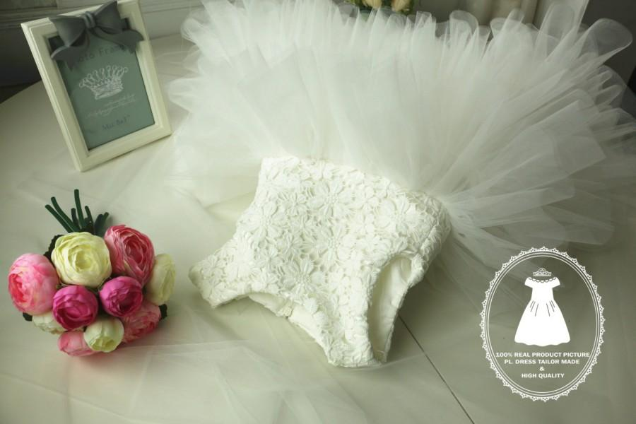 Mariage - Ivory Flower Girl Dress Tulle, PD021
