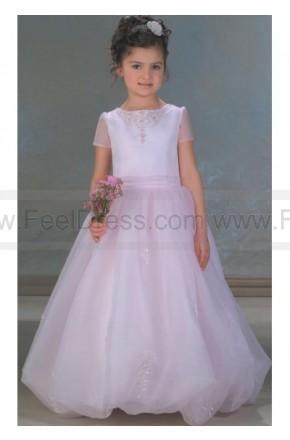 Mariage - A Line Round neck Floor Length Flower girls Dress