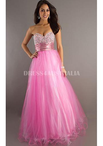 Wedding - Buy Australia Princess A-line Sweetheart Pink Organza Evening Dress/ Prom Dresses By precious formals PF-O10442 at AU$157.08 - Dress4Australia.com.au