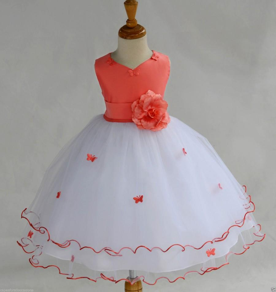 Red And White Tulle Dress Girls Fashion Dresses