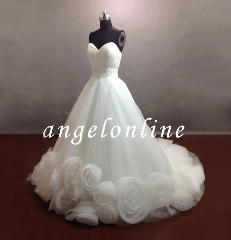 White Organza Wedding Dress/Fairy Wedding Dress/Princess Wedding ...