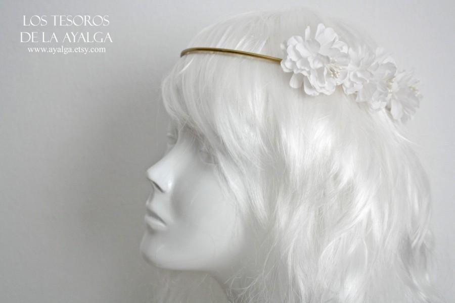 Hochzeit - wedding circlet - bridal headpiece - floral crown