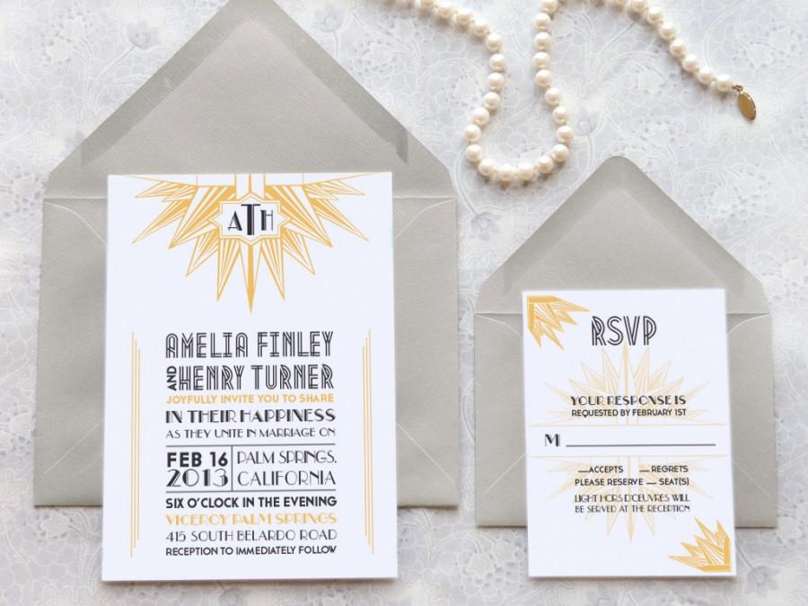 Was Ist Deco deco blanc starburst deco wedding invitations monogram wedding