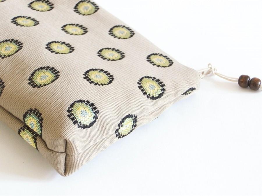 Свадьба - Unique Aqua Clutch, Aqua Dots Bag, Bridal Cosmetic Bag, Preppy Purse, Women Wallet, Bridesmaid Gift