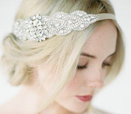 Mariage - Rhinestone Beaded Headband, Grecian Headpiece, Wedding Hair Accessory, Crystal Headband