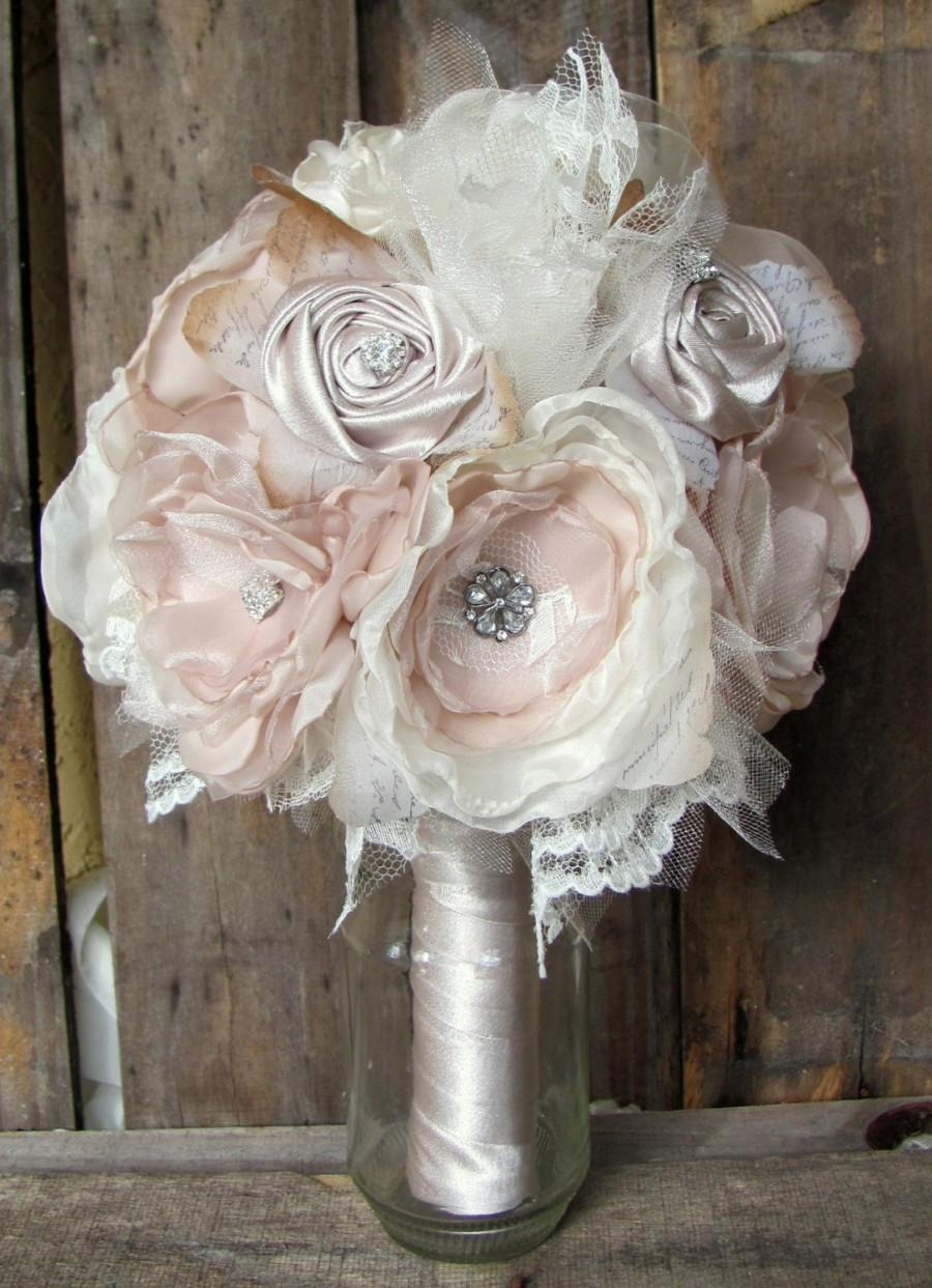 Bridal Brooch Bouquet Wedding Bouquetrhinestone Bouquetfabric