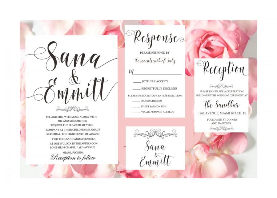 Wedding Invitation Suite - Wedding Invitation Template - Wedding ...