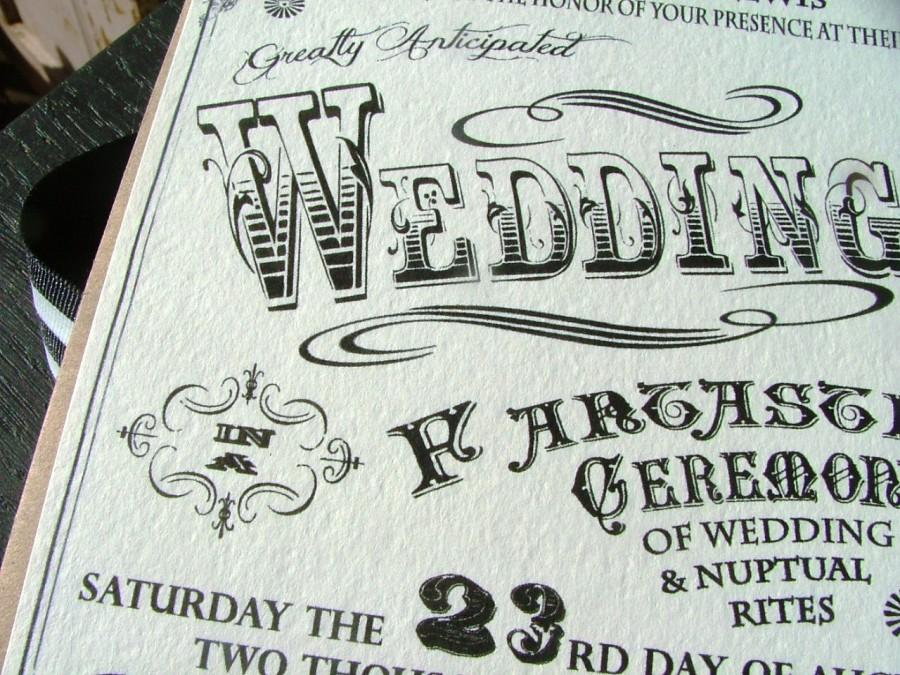 Hochzeit - Carnival Wedding Invitations -Incredible Poster Wedding- Vintage Carnival, circus wedding, RSVP cards