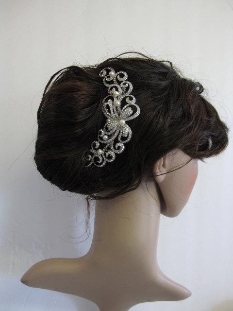 Mariage - Wedding hair comb bridal hair comb bridal comb bridal headpiece bridal hair accessories bridal hair piece bridal hair jewelry bridal jewelry