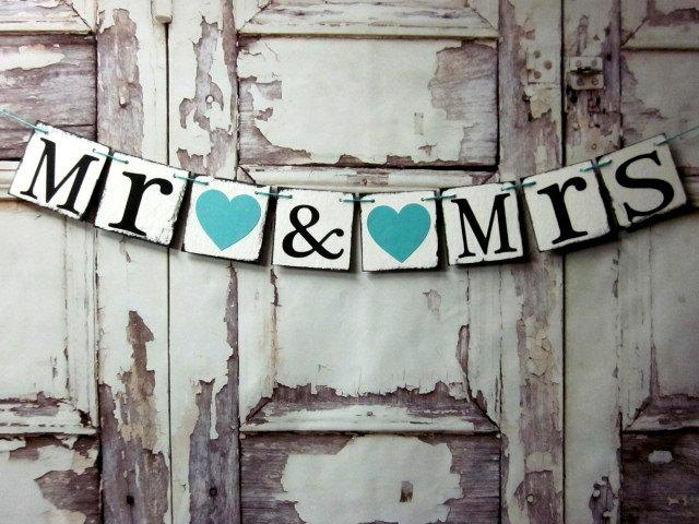 Mr And Mrs Wedding Signs Banners Rustic Barn