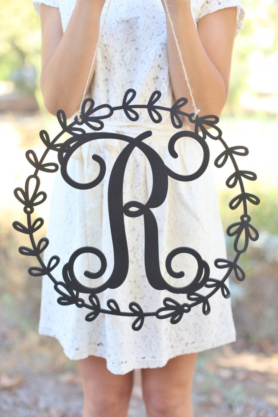 Mariage - Personalized Rustic Wood Monogrammed Sign by Morgann Hill Designs   (Item Number MHD20237)