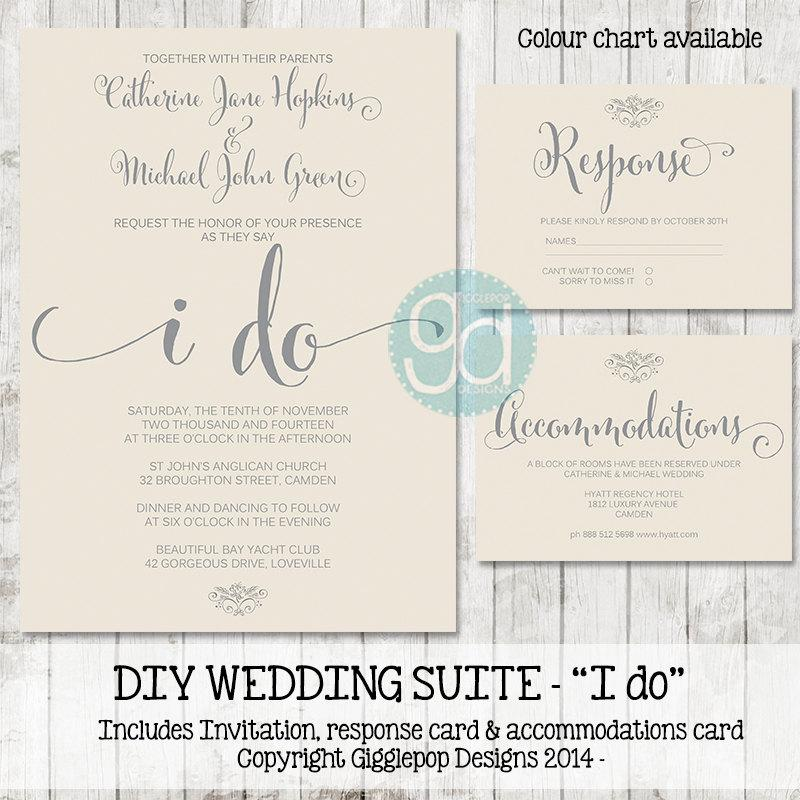 زفاف - Printable Wedding Invitation Suite