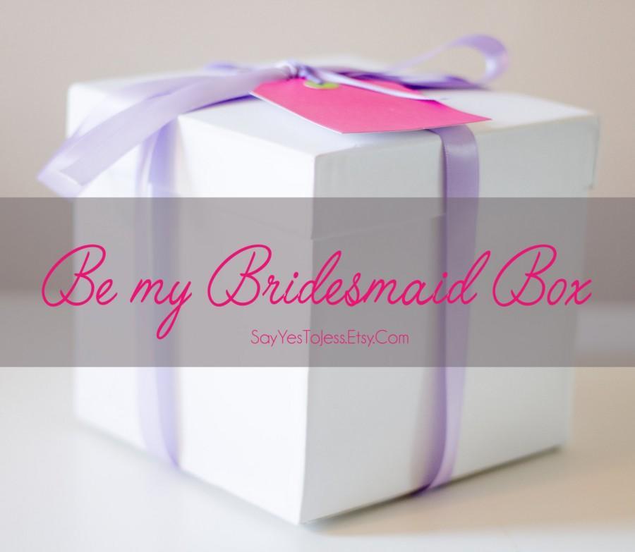 زفاف - Be My Bridesmaid Box, Bridesmaid Box, bridesmaid proposal, bridesmaid proposal box,  bridesmaid proposal Balloon, bridesmaid proposal Idea