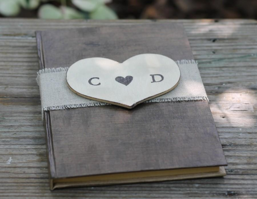 wedding guest book advice for the bride book bridal shower guest book linen and personalized heart shabby chic rustic weddings 5 x 7