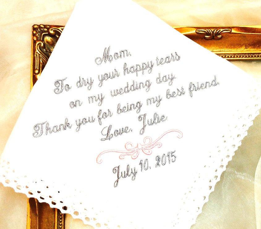 Gift For Mom On My Wedding Day : ... happy tears on my wedding day - BEST FRIEND - Hankie Bridal Weddings