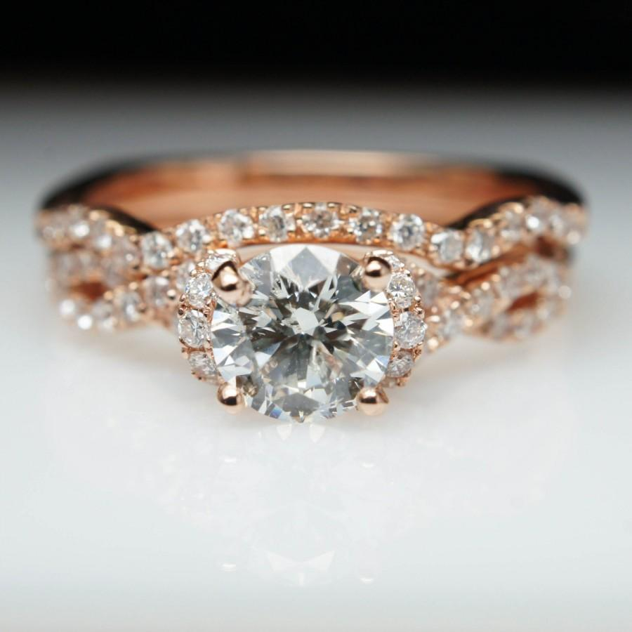 criss cross half halo diamond engagement ring solitaire rose gold
