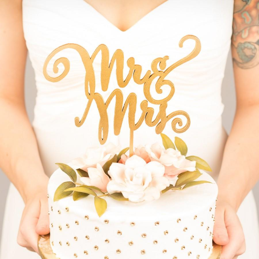 Mariage - Mr and Mrs Cake Topper - Wedding Cake Topper - Daydream Collection