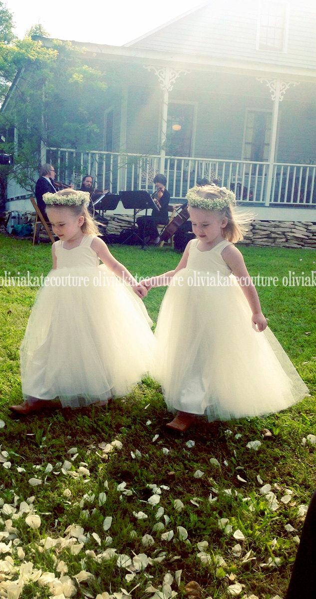 Mariage - Flower Girl's Ankle Length Dress