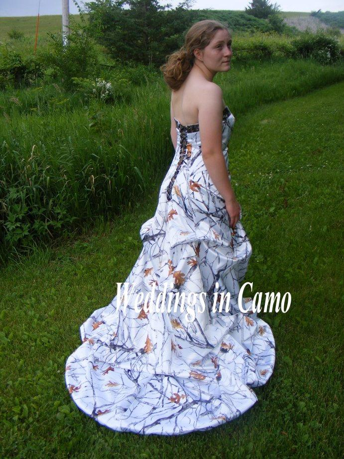Wedding - CAMO Princess wedding dress CORSET back with PICKUPS all sizes