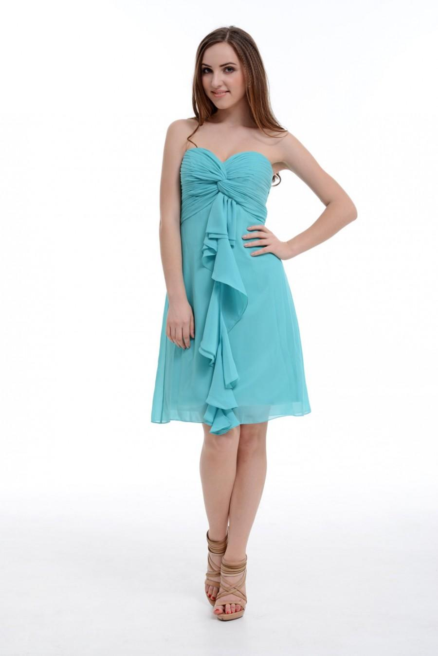 Turquoise Bridesmaid Dress A Line Sweetheart Chiffon Bridesmaid Dress Home Coming Dress