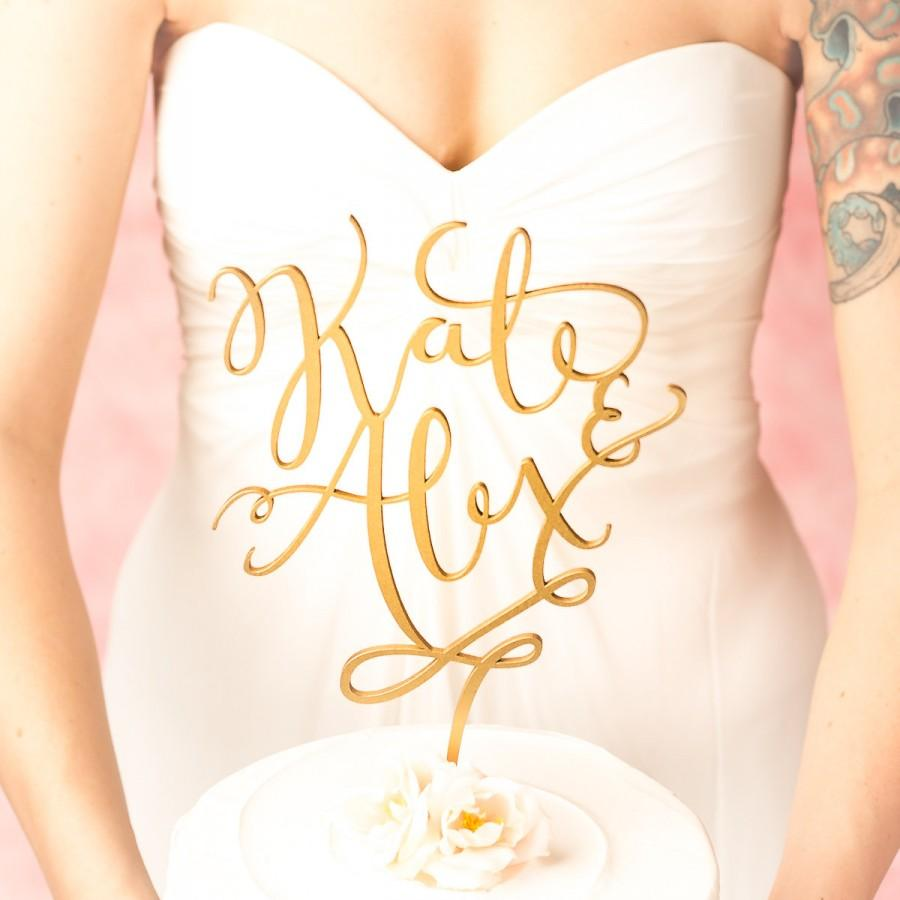 Mariage - Wedding Cake Topper - Custom cake topper - Gold cake topper - Joyful Collection