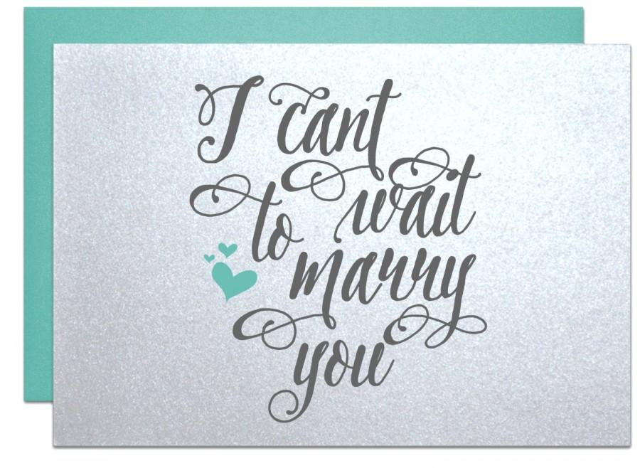 I cant wait to marry you wedding card for bride gift note or i cant wait to marry you wedding card for bride gift note or groom gift notes on our wedding day cards bride fiance groom engagement party junglespirit Choice Image