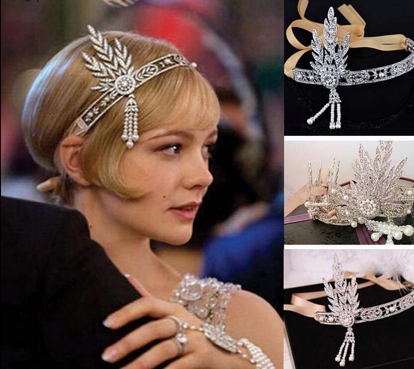 Wedding Hair Accessories Uk Er Great Gatsby Headband Forehead Band 1920s Fler Art Deco Style Vintage Headpiece