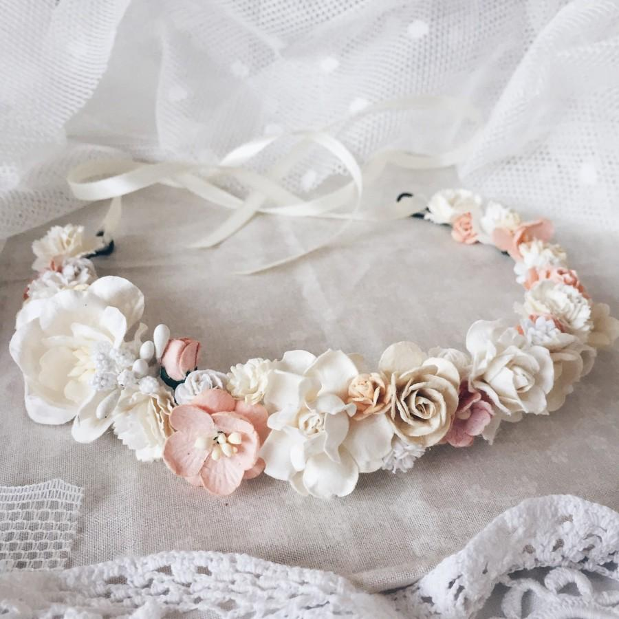 Bridal crown floral crown wedding flower crown flower crown bridal crown floral crown wedding flower crown flower crown wedding crown floral head wreath boho hair accessories izmirmasajfo Choice Image