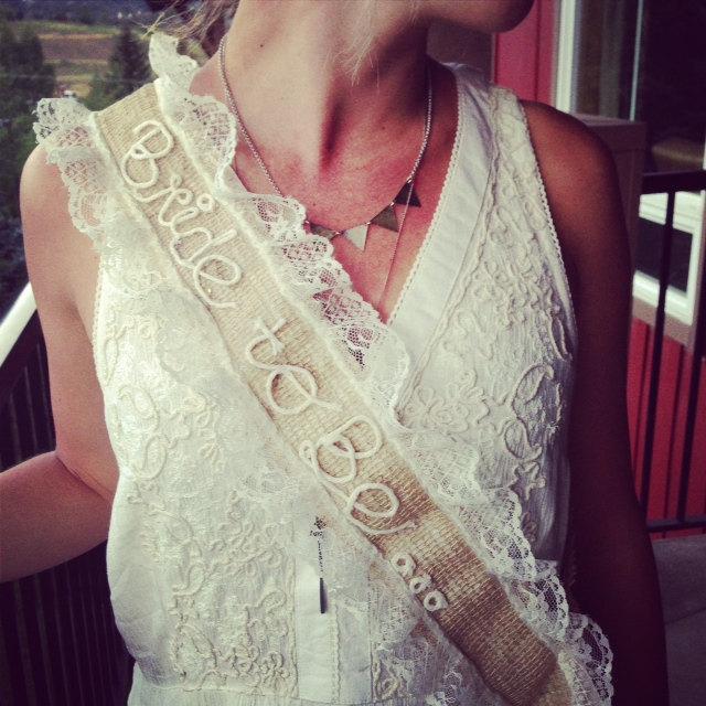Wedding - Rustic gal bachelorette sash