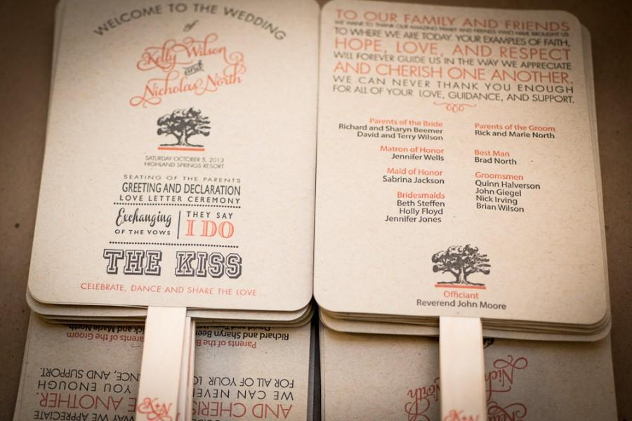 DIY Printable Wedding Program Fan, Order Of Service, Wedding ...