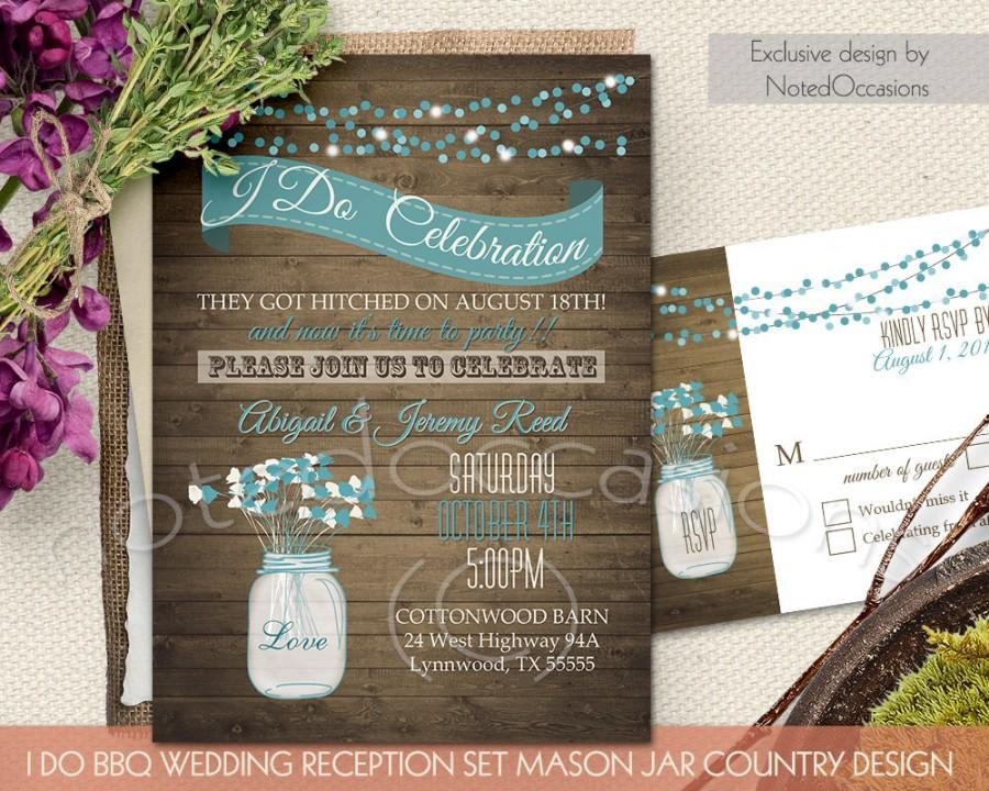 invitation i do bbq wedding invitation