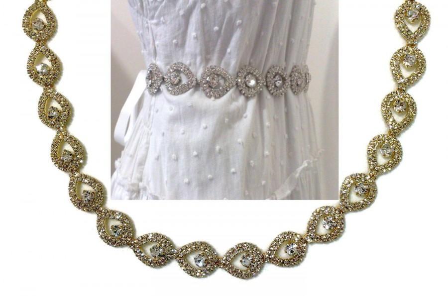 gold bridal sash peacock wedding teardrop bridal sash