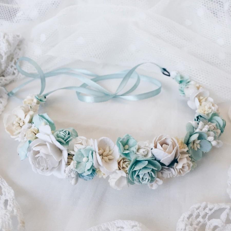 Mariage - Bridal crown, Bridal flower crown, Wedding headband, Wedding flower crown, Flower crown, Spring flower crown, floral crown, Boho