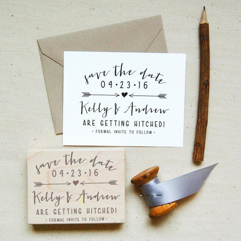 Save The Date Stamp 7 Modern