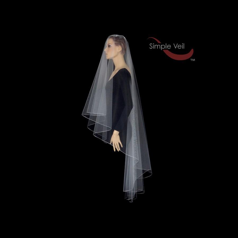 Свадьба - 90 inch Drop Veil style Bridal Veil, Pencil Edge