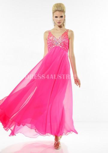 Свадьба - Buy Australia Lovely V-neck Watermelon Chiffon Evening Formal Dress/ Prom Dresses at AU$153.72 - Dress4Australia.com.au