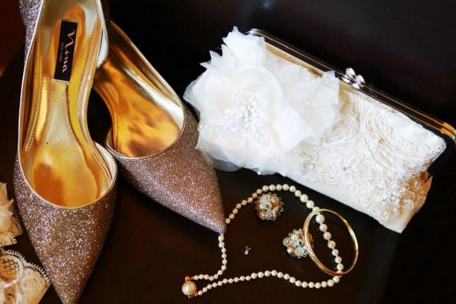 Mariage - Elegant Wedding / Glam Wedding / Custom Clutch