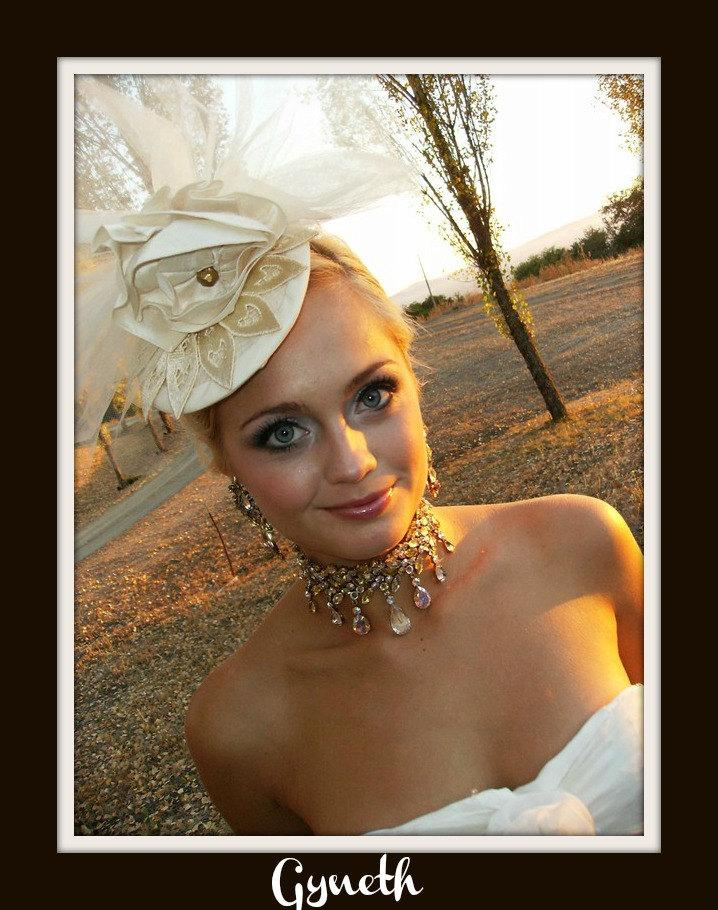 Wedding - GWYNETH Fascinator (Ready to ship)