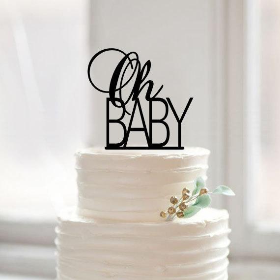 Oh Baby Cake Topper Shower Toppercustom Kids Toppermodern Funny Birthday Topperunique Gift