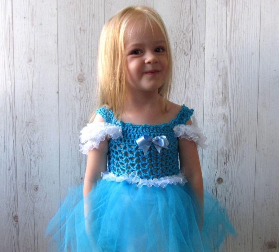 Cinderella Girls Crochet Tutu Dress, Flower Girl Dress , Halloween ...