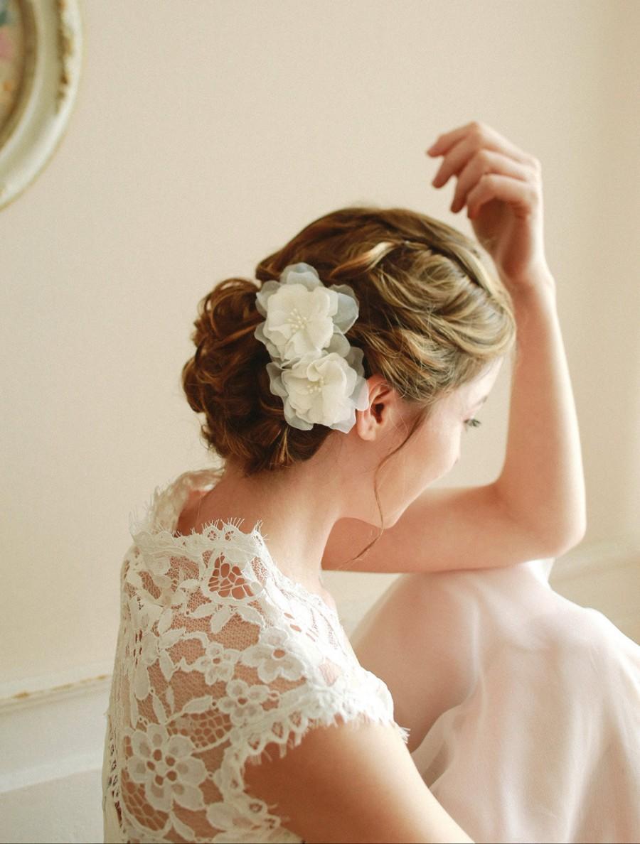 Свадьба - Wedding hair pins, bridal hairpins, wedding headpiece, flower hair pins - style 115