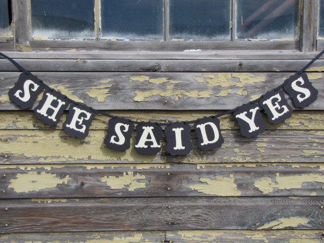 Свадьба - SHE SAID YES  Wedding, Engagement, or Announcement Photo Banner