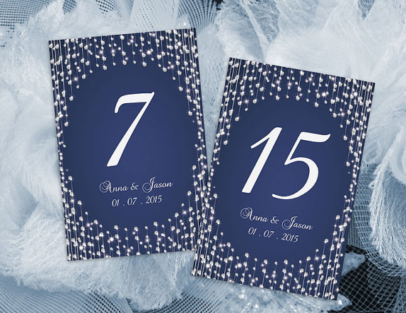 Mariage - DIY Printable Wedding Table Number Template