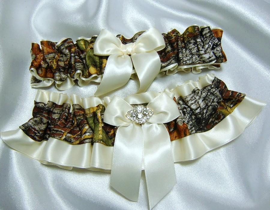 Real Mossy Oak Break Up Wedding Garter Set W Logo