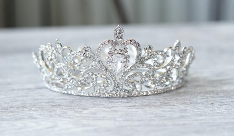 Wedding - Couture Swarovski Crystal Flower Girl Tiara, Rhinestone Flower Girl Crown, Holy Communion Crown, Diamante Flower Girl Crown